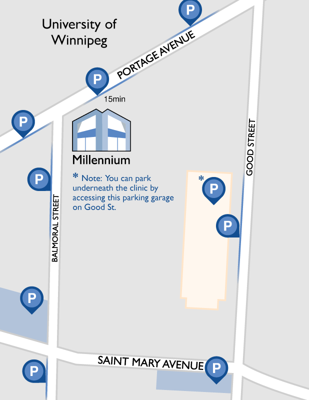 Millennium Medical Centre Parking Map